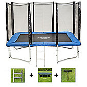 Up and About Rectangular 7x10ft Jump Easy Trampoline Package with Free Ladder, Weather Cover and Building Tool