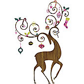 Giant Christmas Reindeer Wall Sticker