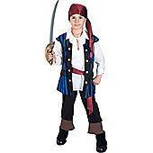 Child Pirate King Costume Medium