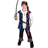 Child Pirate King Costume Medium