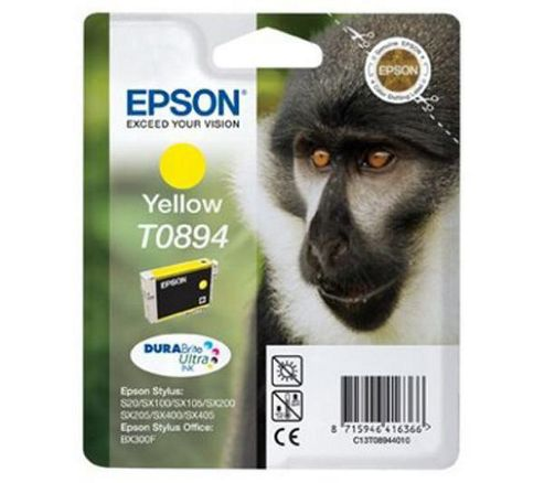 Epson T0894 Ink Cartridge For Stylus S20/SX100/SX105 - Yellow.