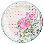 Table Fun Rose Paper Plate 24cm 8 Pack
