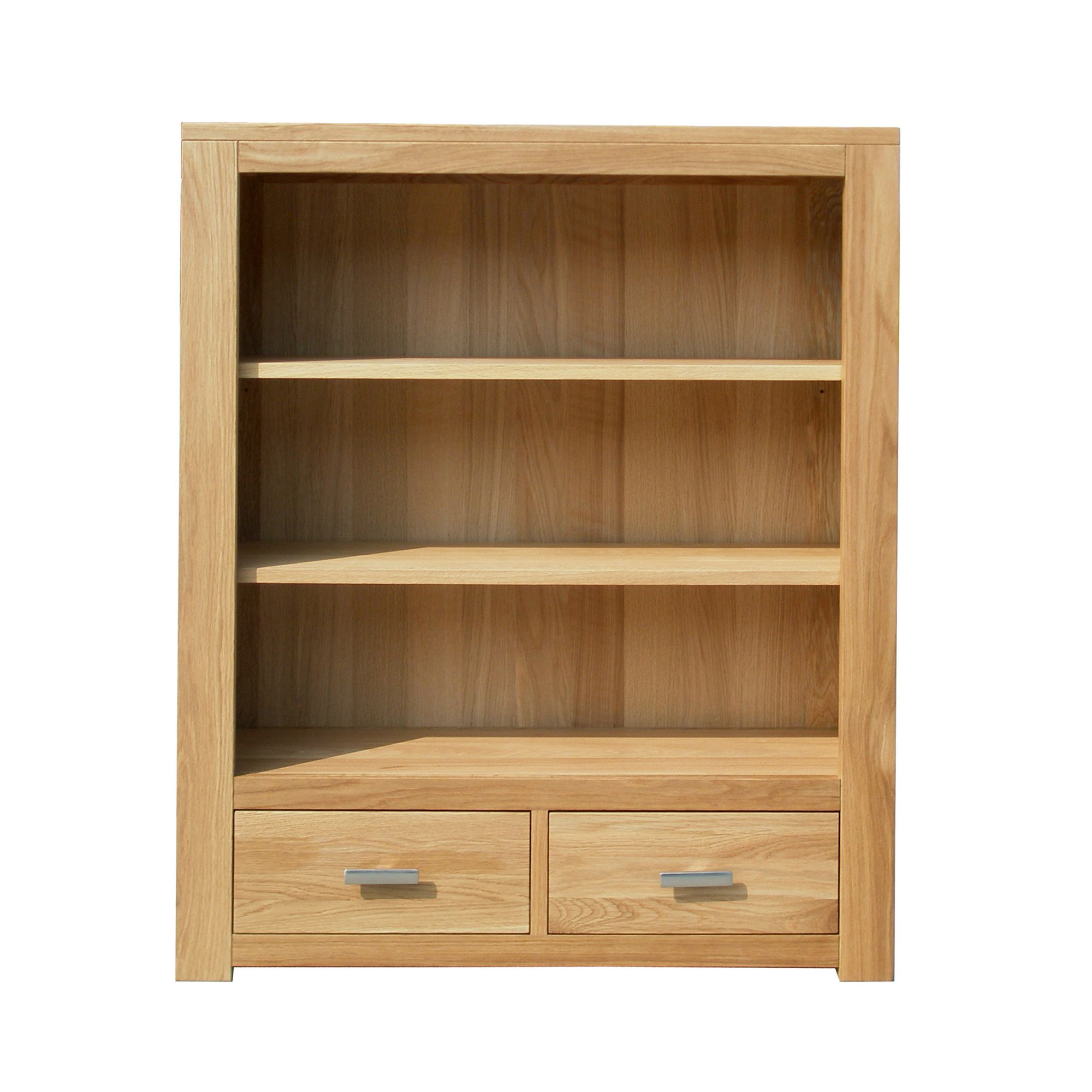 Home Zone Furniture Churchill Oak 2010 Low Book Case in Natural Oak at Tesco Direct