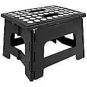 Kikkerland Rhino Folding Footstool in Black, Holds 135kg ZZ12-BK