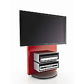 Luke Furniture TV Stand with Storage - High Gloss Red