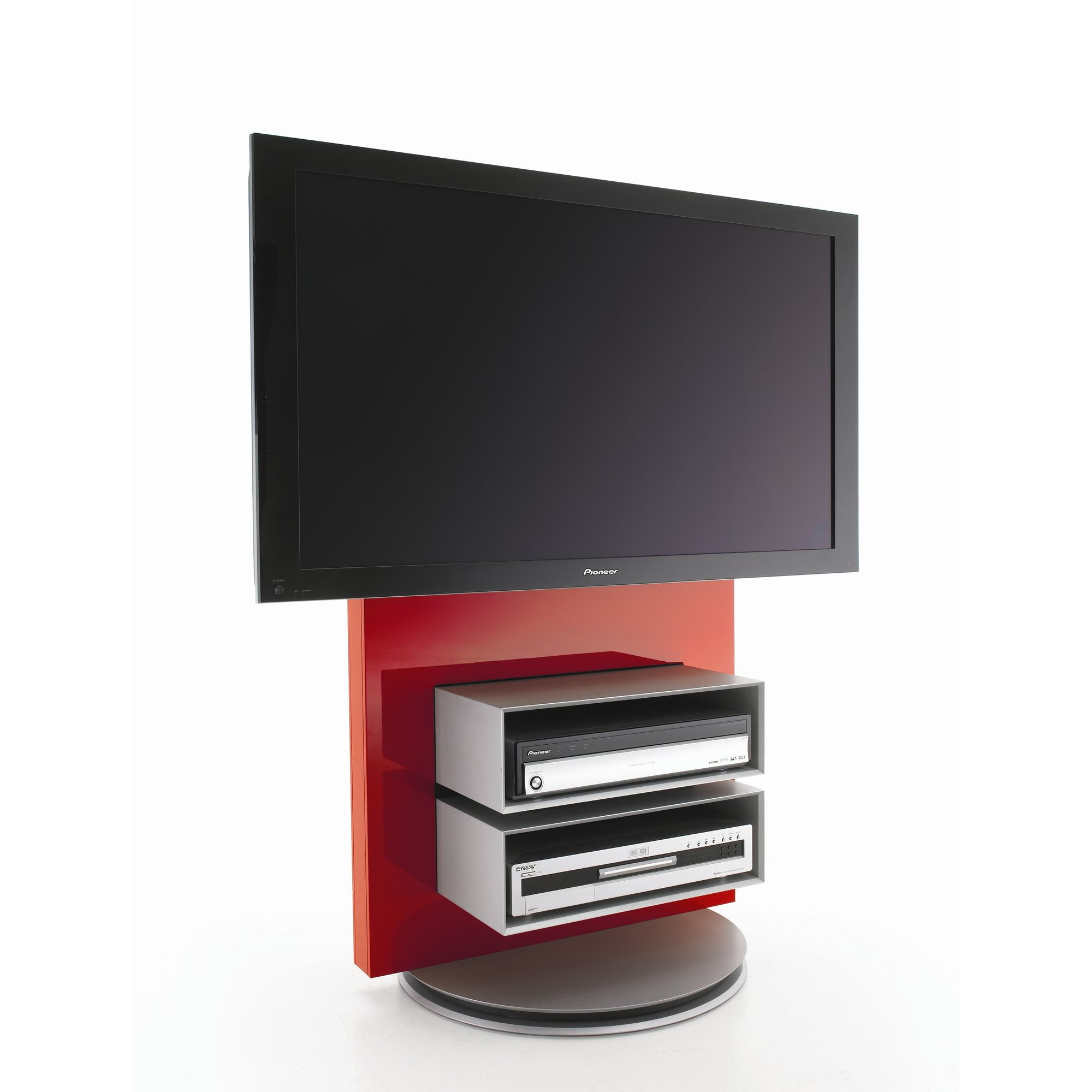 Luke Furniture TV Stand with Storage - High Gloss Red at Tesco Direct