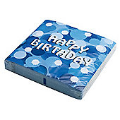 Blue Sparkle Birthday Serviettes