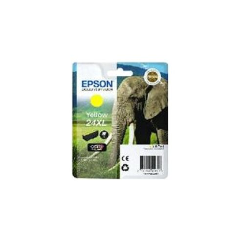 Epson Elephant 24XL (RF/AM) High Capacity (Yield 740 Pages) Ink Cartridge (Yellow) for Epson Expression Photo: XP-750 / XP-850