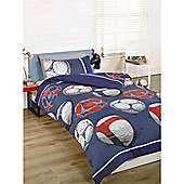 Rapport Kidz Soccer Single Quilt Set Blue