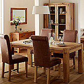 Originals UK Talin 5 piece Solid Oak Sining Set