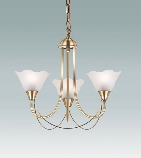 Endon Lighting Three Light Chandelier in Antique