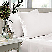 Catherine Lansfield Non Iron Percale Combed Poly-Cotton Flat Sheets in White - Single