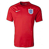 2014-15 England Authentic Away World Cup Shirt - Red