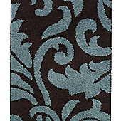 Think Rugs Majesty Brown/Blue Shaggy Rug - 160 cm x 220 cm (5 ft 3 in x 7 ft 3 in)