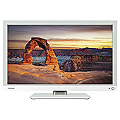 Toshiba 24D1334B2 24 Inch HD Ready 720p LED TV / DVD Combi With Freeview - White