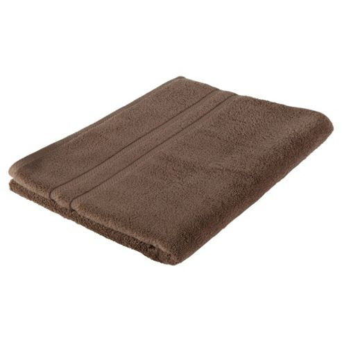 Tesco 100% Combed Cotton Bath Sheet Mocha