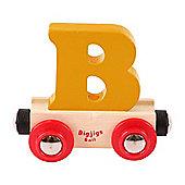 Bigjigs Rail Rail Name Letter B (Orange)