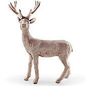 21cm Standing Metallic Gold Christmas Stag Ornament