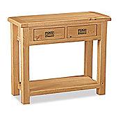 Zelah Oak Console Table - Rustic Oak
