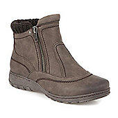 Pavers Ankle Boot with Fleece Lining - Brown