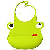 Babisil Ribbib Munch Mate Bib - Green Frog