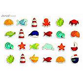 Janod 24 pcs Ocean Theme Fridge Magnets 18m+