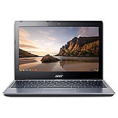 "Acer C720 11.6"" Chromebook, Celeron, 2GB Memory, 32GB SSD Storage - Grey"