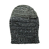 Volcom Brutus Long Knit Beanie With Multi Colour Yarn And Dirty Stone Embroidery - Black