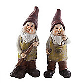 Pair of Standing Gardening Gnome Ornaments