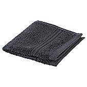 Tesco Hygro 100% Cotton Face Cloth, Charcoal