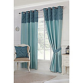 Hamilton McBride Darcy Lined Ring Top Curtains - Teal