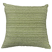 Stripe Chenille Cushion, Green