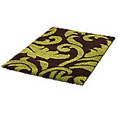 Think Rugs Majesty Brown/Green Shaggy Rug - 80 cm x 150 cm (2 ft 8 in x 4 ft 11 in)