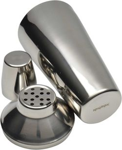 3 Piece Manhattan Cocktail Shaker, Built In Strainer, Stainless Steel 800ml