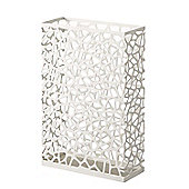 Yamazaki Nest Slim Rectangular Umbrella Stand Storage in White 6323
