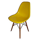 Charles Eames Inspired Eiffel DSW Yellow Dining Chair