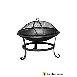 Traditional Style Black Steel Firepit