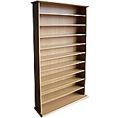 CD / DVD / Blu-ray Media Storage Shelves - Oak