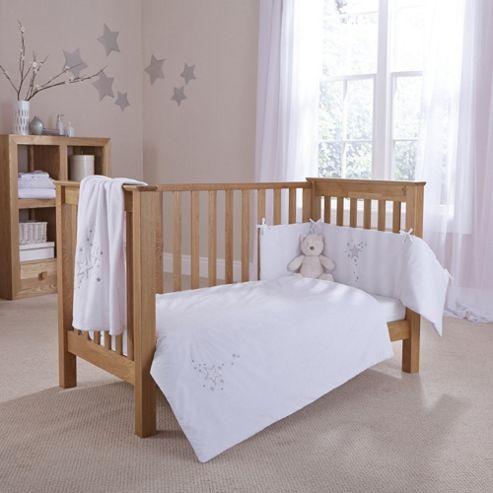 Clair De Lune Starburst 2 Piece Bedding Set - White