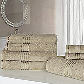 Dreamscene Luxury Egyptian Cotton 7 Piece Towel Bale Set - Natural