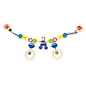 Heimess 734820 Wooden Pram String Clip On (Pirate)
