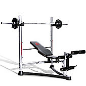 E-Range Deluxe Olympic Weight Bench with Rack