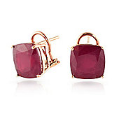 QP Jewellers 9.40ct Ruby Lavish Stud Earrings in 14K Rose Gold