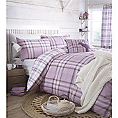 Catherine Lansfield Kelso Heather Double Duvet Cover Set