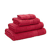 Catherine Lansfield Home Egyptian towel bath sheet, 90x140, red