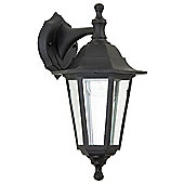 Endon Lighting Six Sided Wall Lantern in Black