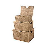 Wicker Valley 26cm Seagrass Storage Box 3 Piece Set