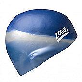 Zoggs Multi Colour Silicone Swimming Swim Cap Adult - Silver