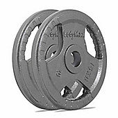 Bodymax Olympic Cast Iron Tri-Grip Weight Disc Plates - 2 x 15kg
