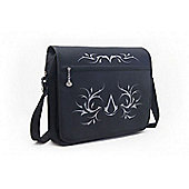 Assassins Creed Premium Messenger Bag with Crest and Tribal Design, Black - Other